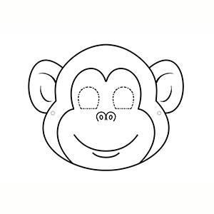 Máscara de Mono para colorear