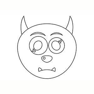 Máscara de Monstruo para colorear