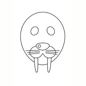 Máscara de Morsa para colorear