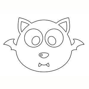 Máscara de Murcielago para colorear