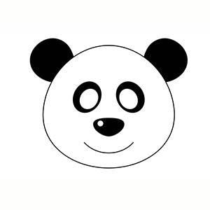 Imprimir máscara de Oso Panda