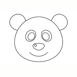 Máscara de Oso Panda para colorear