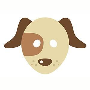 Imprimir máscara de Perrito