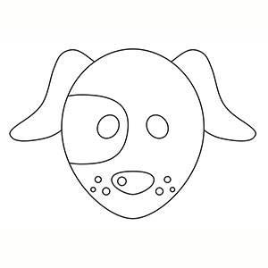 Máscara de Perrito para colorear