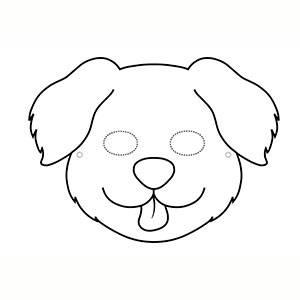 Máscara Perrito para colorear