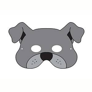 Imprimir máscara Perro