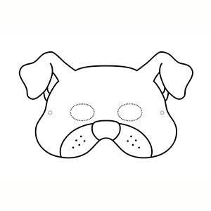 Máscara de Perro para colorear