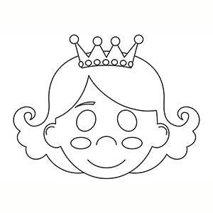Máscara de Reina para colorear