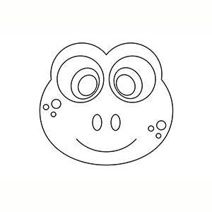Máscara de Rana para colorear