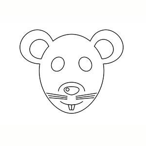 Máscara de Ratita para colorear