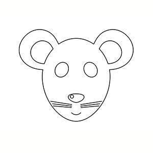 Máscara de Ratoncito para colorear
