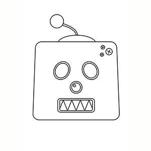 Máscara de Robot para colorear