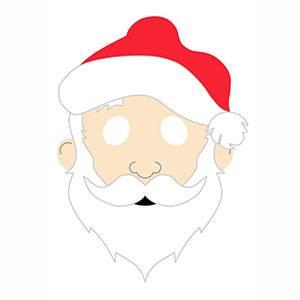 Imprimir máscara de Santa Claus