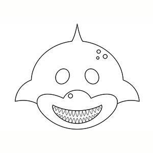 Máscara de Tiburon para colorear
