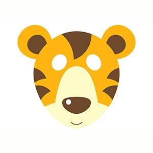 Máscara de Tigre para imprimir