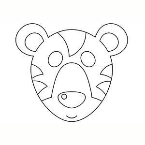 Máscara de Tigre para colorear