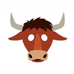 Máscara de Toro para imprimir