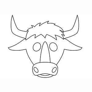 Máscara de Toro para colorear
