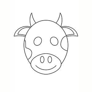 Máscara de Vaca para colorear