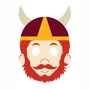 Máscara de Vikingo para imprimir