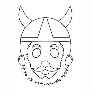 Máscara de Vikingo para colorear