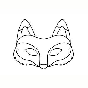 Máscara Zorro para colorear